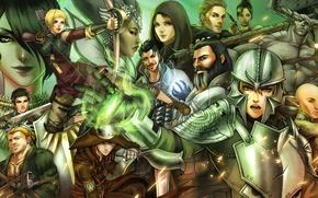 Картинка эльф, воин, маг, гном, Cole, morrigan, Sera, Dragon Age: Inquisition, Varric Tethras, Leliana, Dorian, Qunari, …