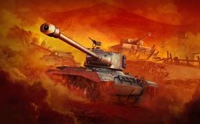 Картинка WoT, ИС-7, World of Tanks, PzKpfw VI Tiger, Мир Танков, Wargaming Net, M46 Patton, Tiger …