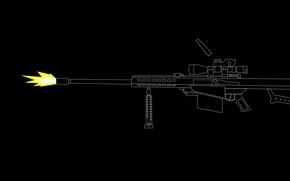 Картинка оружие, выстрел, оптика, снайперская винтовка