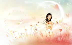 Картинка ветер, птица, Любовь