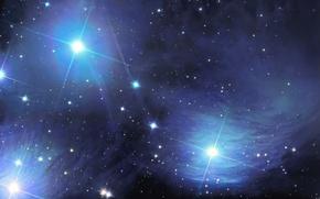 Картинка космос, туманность, Tempel's Nebula, IC 349б, Merope nebulae, NGC 1435