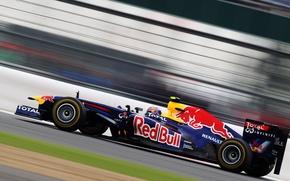 Картинка Скорость, Formula-1, Болид, Марк Уэббер, Формула-1, Red Bull RB7, Red Bull Racing Renault, Mark Webber, …