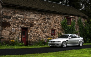 Картинка бмв, BMW, silver, E46