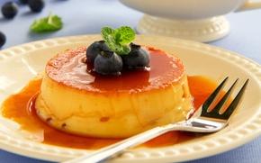 Обои еда, черника, сливки, фрукты, крем, десерт, fruit, cream, dessert, blueberries