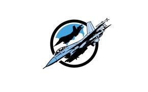 Картинка истребитель, полёт, F-16, многоцелевой