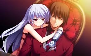 Картинка девушка, аниме, парень, киборг, Grisaia no Kajitsu