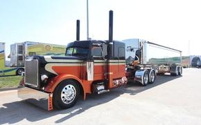 Картинка custom, truck, peterbilt