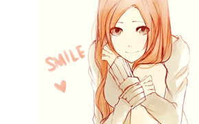 Картинка девушка, улыбка, рыжие волосы, Bleach, Inoue Orihime