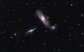 Картинка NGC 5566, NGC 5560, туманности, космос, NGC 5569