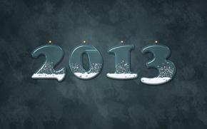 Картинка 2013, серый, новый год, снег, фон