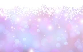Картинка снежинки, свечение, точки, пятна