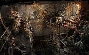 Картинка Арт, Айзек Кларк, Electronic Arts, Dead Space 3, Джон Карвер, Мёртвый Космос, Visceral Games, Помещения