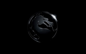 Картинка дракон, логотип, смертельная битва, mortal kombat x