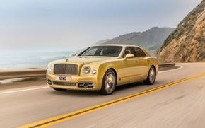 Картинка Bentley, Желтый, Автомобили, 2016, Mulsanne Speed