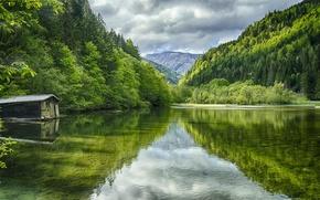 Картинка Green Lake, озеро, Австрия