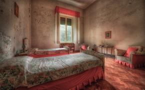 Картинка фон, комната, кровати