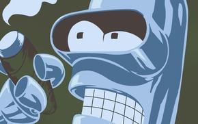 Картинка дым, сигарета, Бендер, Футурама, Futurama, Smoke, Bender, Bender Bending Rodriguez, Cigarette, Бендер сгибатель Родригес, сгибающий …