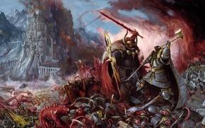 Картинка люди, монстры, Битва, Warhammer, хаос