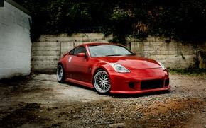 Картинка fire, red, Nissan, Dragon, 350Z, Monsterwraps