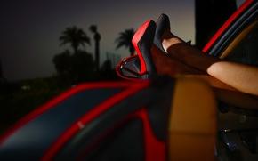Картинка машина, ноги, туфли