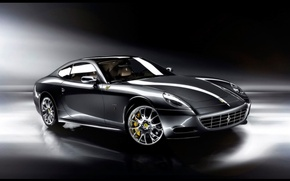 Обои черный, Ferrari, спорткар, One to One, Staglietti