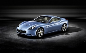 Картинка синий, Ferrari, california