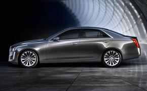 Картинка Cadillac, вид, CTS, сбоку, кадиллак