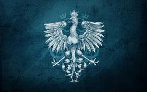 Картинка стиль, птица, орел, рисунок, герб