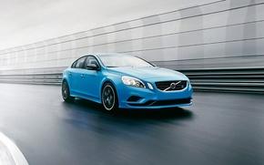 Картинка голубой, Volvo, Вольво, седан, blue, S60, с60, Polestar