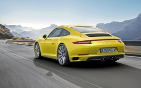 Картинка купе, 911, Porsche, порше, Coupe, 2015, Carrera 4S