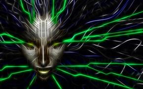 Картинка game, SHODAN, art, face, system shock