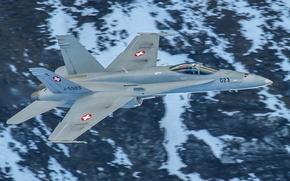 Картинка оружие, FA-18C Hornet, полет, истребитель, многоцелевой