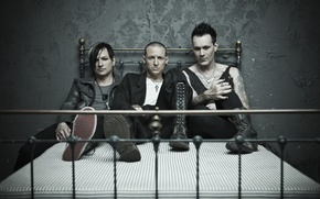 Обои Amir Derakh, Ryan Shuck, Chester Bennington, Dead By Sunrise