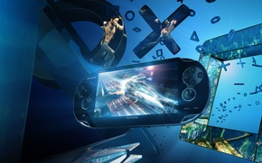 Картинка Sony, консоль, PlayStation Vita, PS4