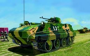 Картинка art, painting, tank, Chinese Type 63-2