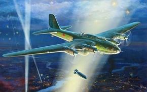 Картинка рисунок, советский, ВВС СССР, Жирнов, тяжелый бомбардировщик, ТБ-7