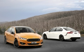 Картинка Ford, Белый, Оранжевый, Falcon, Автомобили, 2014, AU-spec (FG)