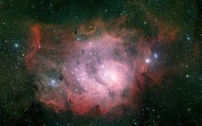 Картинка туманность, Лагуна, Стрелец, созвездие, NGC 6523