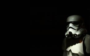 Картинка звездные войны, star wars, черный фон, штурмовик