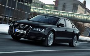 Картинка Audi, Черный, Ауди, Машина, A8L, Езда