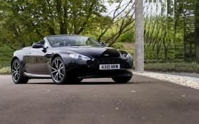 Картинка авто, Aston Martin, черный, кабриолет