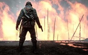 Обои огонь, Electronic Arts, Battlefield 1, солдат, игра, война