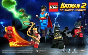 Картинка batman, lego, flash, robin
