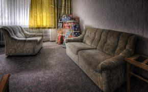 Картинка комната, диван, подарки