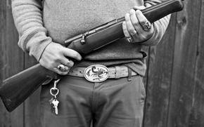 Картинка metal, wood, rifle bolt