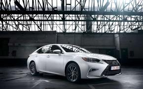 Обои седан, Lexus, белый, автомобиль, ES 200, лексус, white, car