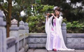 Картинка девушка, музыка, азиатка
