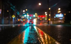Картинка ночь, город, огни