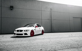 Картинка белый, тюнинг, бмв, BMW, white, front, E92