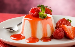 Обои cream, dessert, десерт, сладкое, ягоды, strawberries, еда, клубника